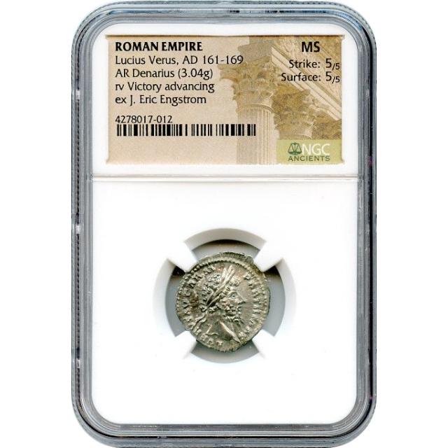 Ancient Rome - AD 161-169 Lucius Verus AR Denarius NGC MS