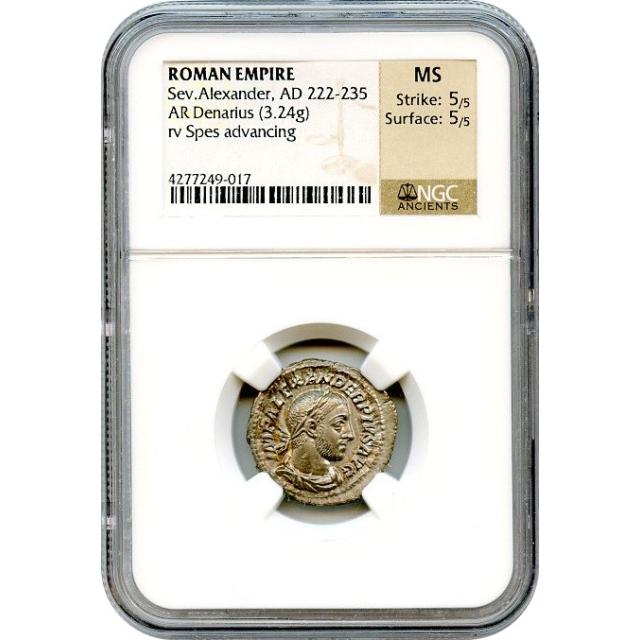 Ancient Rome - AD 222-235 Severus Alexander AR Denarius NGC MS