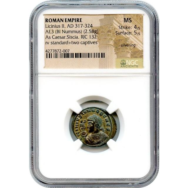 Ancient Rome - AD 317-324 Licinius II BI Nummus NGC MS