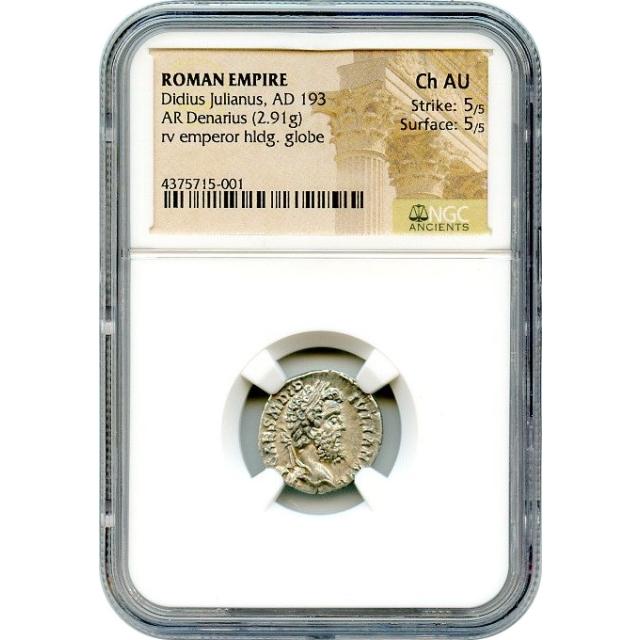 Ancient Rome - AD 193 Didius Julianus AR Denarius NGC Choice AU