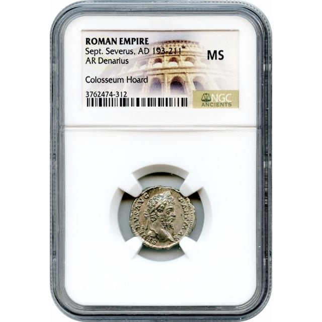 Ancient Rome - AD 193-211 Septimius Severus AR Denarius NGC MS