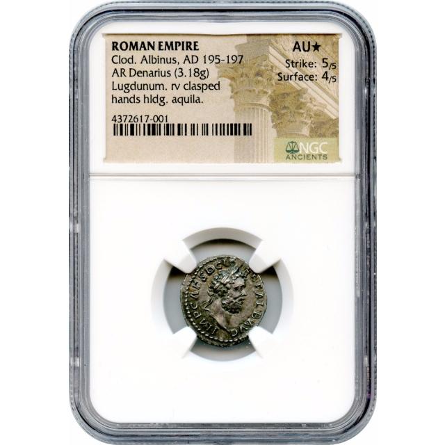 Ancient Rome - AD 195-197 Clodius Albinus AR Denarius NGC AU(*)