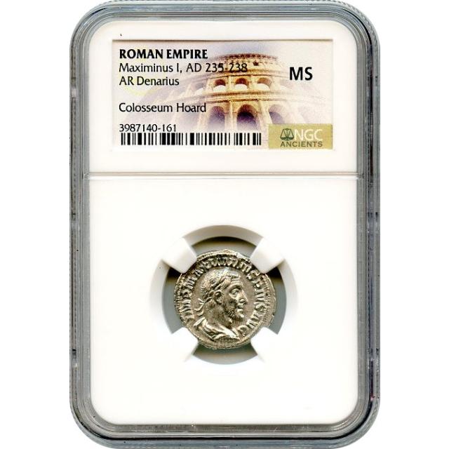 Ancient Rome - AD 235-238 Maximinus I 'Thrax' AR Denarius NGC MS