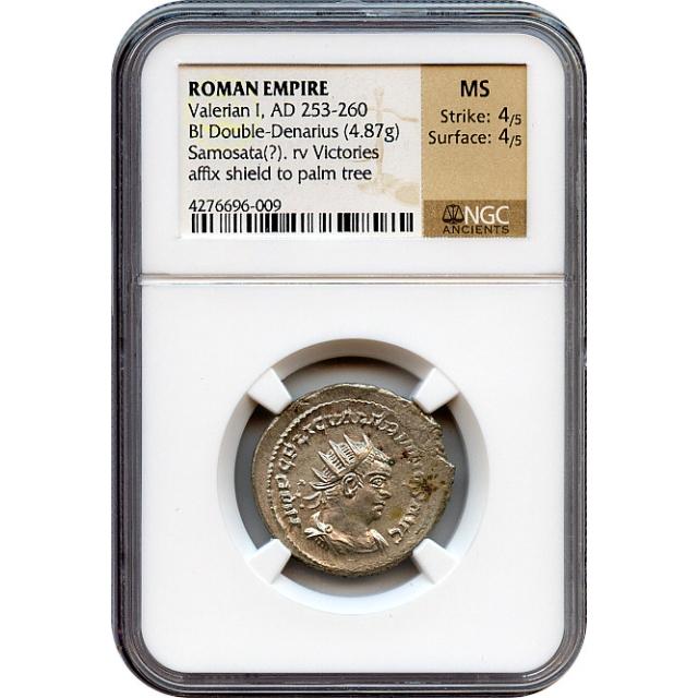 Ancient Rome - 253-260 AD Valerian I BI Double-Denarius NGC MS