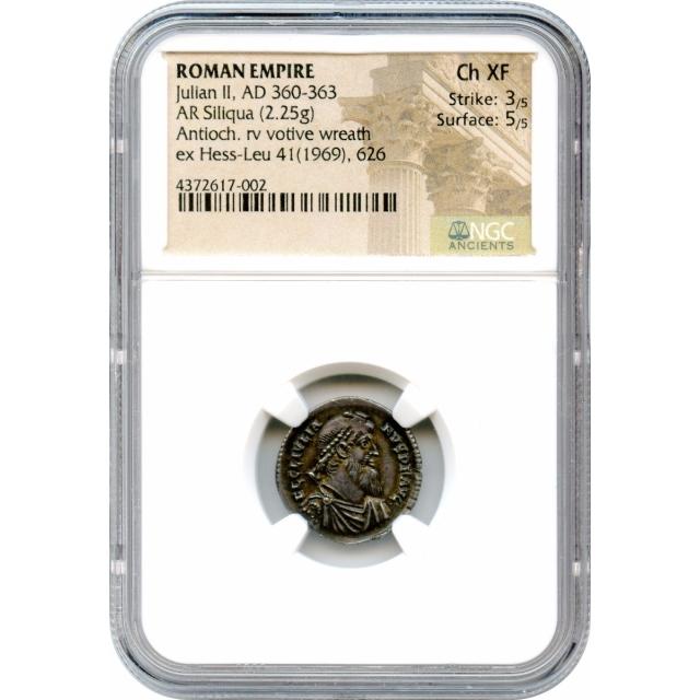 Ancient Rome Western Empire - AD 360-363 Julian II AR Siliqua NGC Choice XF