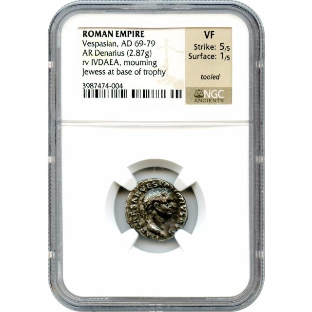 Ancient Rome - 69-79 CE Vespasian AR Denarius NGC VF
