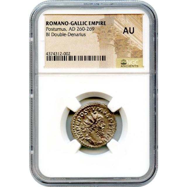 Ancient Rome Gallic Empire - AD 260-269 Postumus BI Double-Denarius NGC AU
