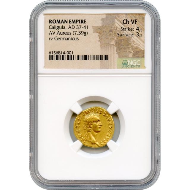 Ancient Rome - 37-41 CE Caligula AV Aureus NGC Choice VF