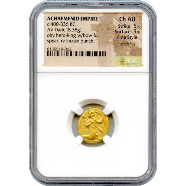 Ancient Archaic Period--400-366 BCE, Achaemenid Persian Empire AV Daric, NGC Choice AU in Fine Style