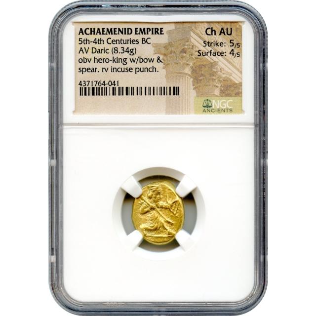 Ancient Archaic Period - 420-375 BCE Achaemenid Persian Empire AV Daric NGC Choice AU