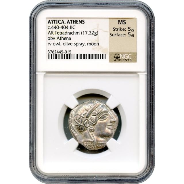 Ancient Greece - 440-404 BCE Attica, Athens Owl AR Tetradrachm NGC MS